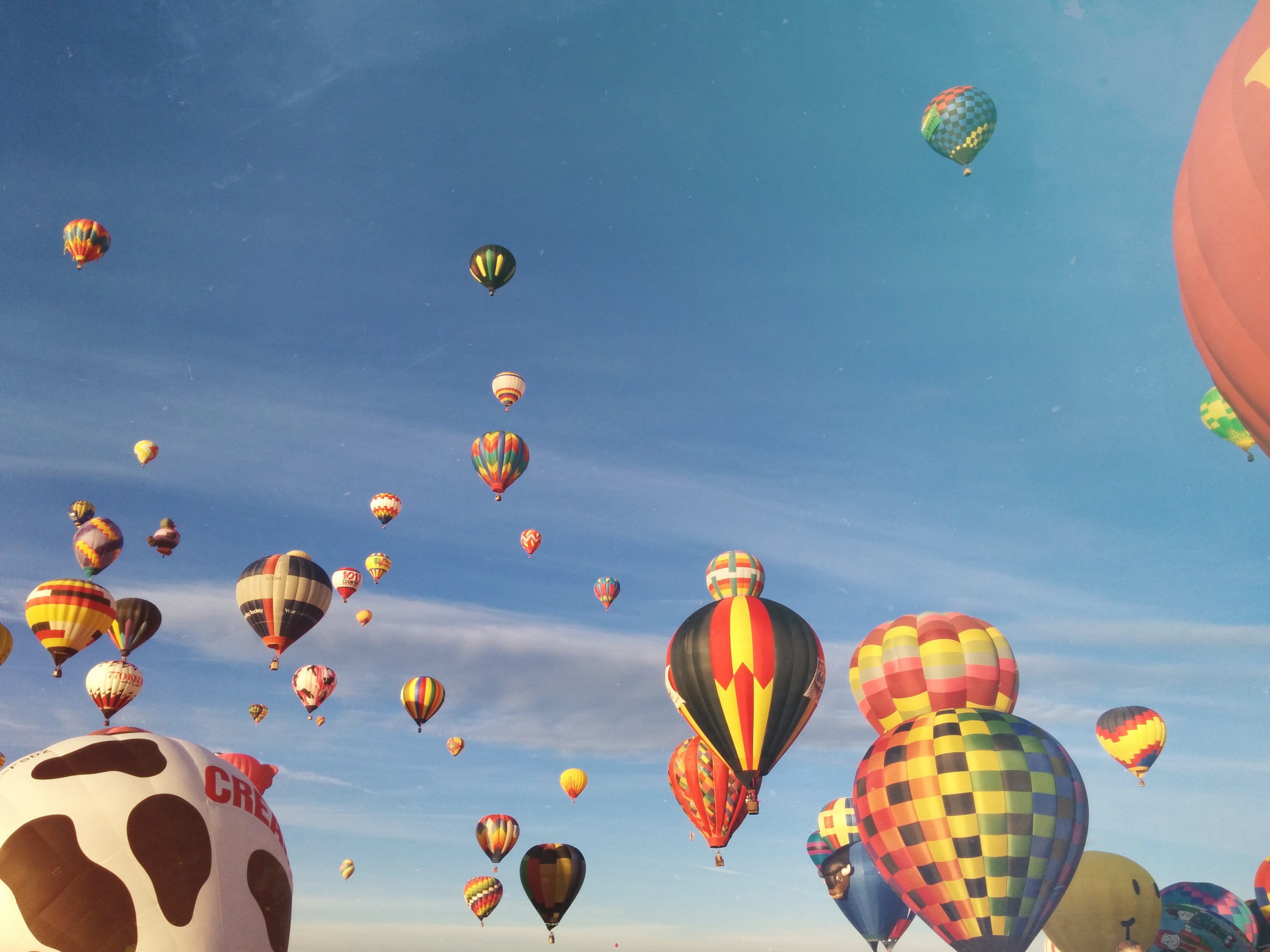 baloons in the sky