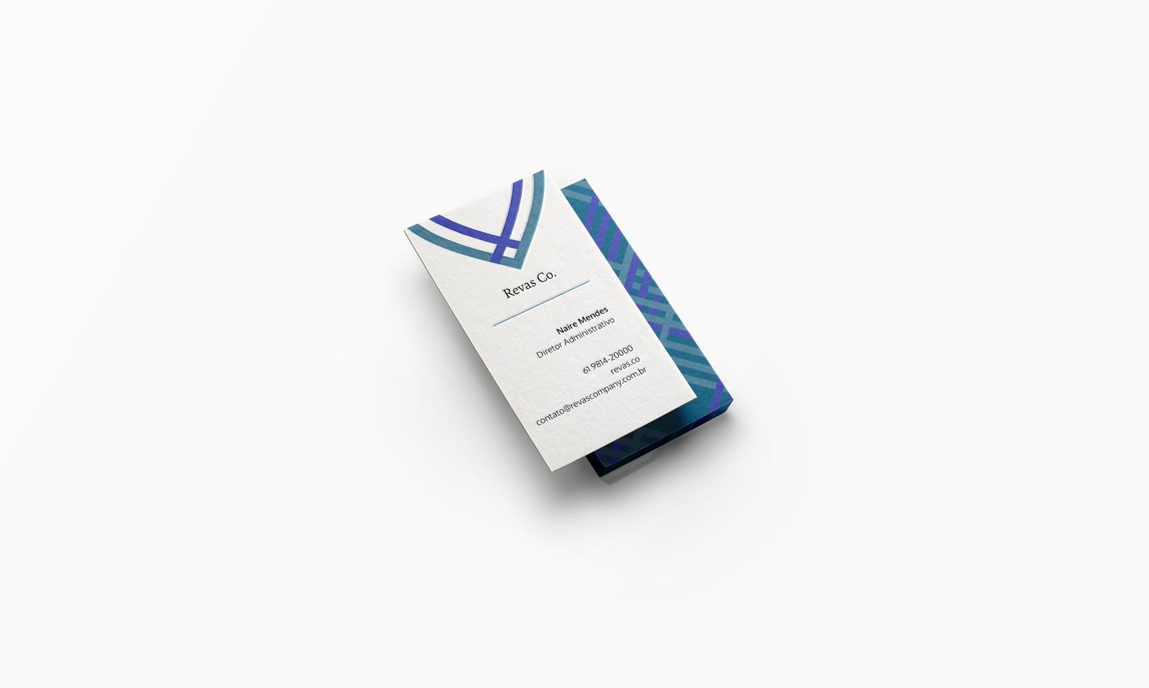 Revas company business card